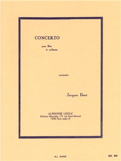 Jacques Ibert: Concerto For Flute And Orchestra (Pocket Score) Books | Flute, Orchestra