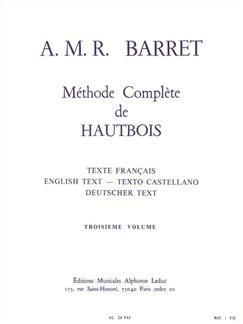 Apollon-Marie-Rose Barret: Méthode Complète Vol.3 (Oboe) Buch | Oboe