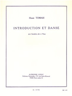 Henri Tomasi: Introduction Et Danse For Alto Saxophone And Piano Books | Alto Saxophone, Piano Accompaniment