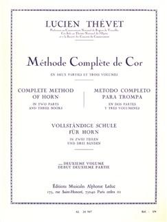 Lucien Thévet: Méthode Complète De Cor Vol. 2 Libro | Corneta