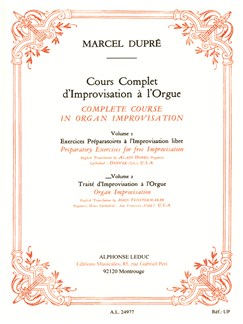 Marcel Dupré: Cours Complet d'Improvisation Vol.2 (Complete Course in Organ Improvisation) (French/English) Books | Organ