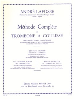 André Lafosse: Méthode Complète Vol.2 (Trombone) Books | Trombone