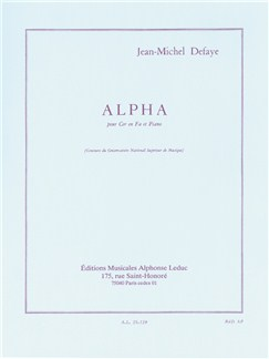 Jean-Michel Defaye: Alpha (Horn/Piano) Books | French Horn, Piano Accompaniment