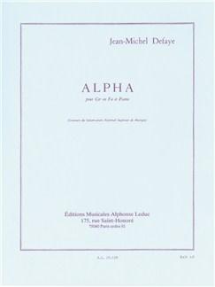 Jean-Michel Defaye: Alpha (Cor/Piano) Livre | Cor