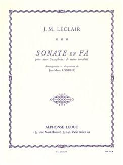 Jean-Marie Leclair: Sonata In F (Two Saxophones) (Londeix) Books | Alto Saxophone (Duet)