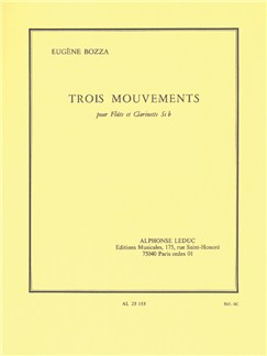 Eugène Bozza: Trois Mouvements (Flute And Clarinet) Buch | Querflöte, Klarinette