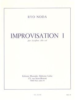 Ryo Noda: Improvisation I Livre | Saxophone Alto