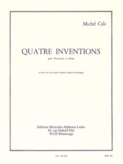 Quatre inventions pour percussion et Piano Livre | Percussion, Partitions