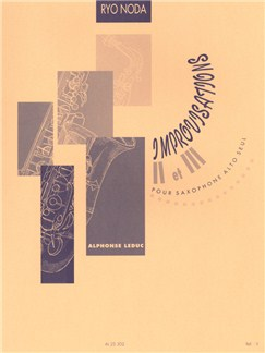 Ryo Noda: Improvisations 2 & 3 (Saxophone Alto) Livre | Saxophone, Saxophone Alto