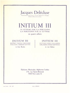 Jacques Delécluse: Initium III pour Percussion Livre | Percussion