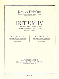 Jacques Delécluse: Initium 4 (Percussion Seule) Livre | Percussion