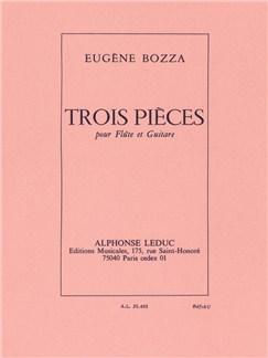 Eugène Bozza: 3 Pièces (Flute/Guitar) Books | Flute, Guitar