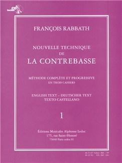 Nouvelle technique de la contrebasse volume 1 avec cd Livre | Contrebasse