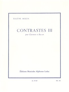 Eugène Bozza: Contrasts III (Clarinet/Bassoon) Books | Clarinet