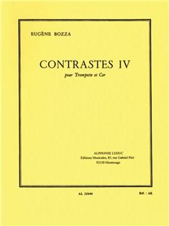 Eugène Bozza: Contrastes IV (Cor & Trompette) Livre | Cor