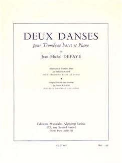 Jean-Michel Defaye: Deux Danses (Version For Bass Trombone) Bog   Basbasun, Klaverakkompagnement