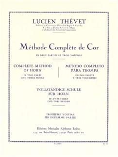 Lucien Thévet: Méthode Complète De Cor Vol.3 Books | French Horn