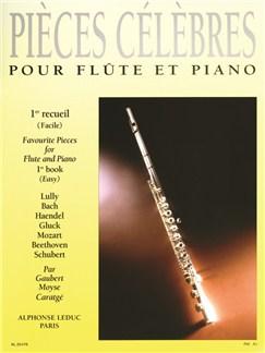Various Composers: Pièces célèbres Vol.1 (Flute & Piano) Livre | Flûte Traversière