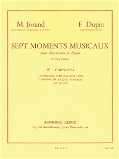 Marcel Jorand/François Dupin: 7 Moments Musicaux Vol.4 - Carnaval Books | Percussion, Piano Accompaniment