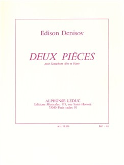 Edison Denisov: Deux Pièces (Alto Saxophone/Piano) Bog | Altsaxofon, Klaverakkompagnement