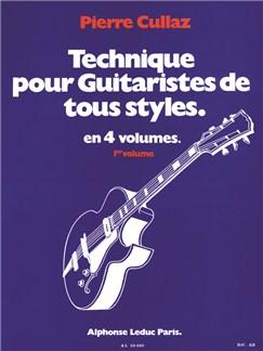 Technique pour Guitareistes de tous styles. volume 1/4 Livre | Guitare
