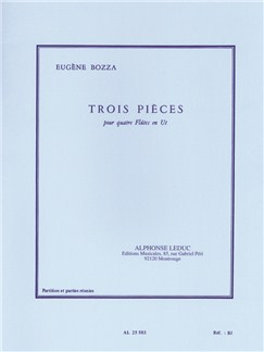 Eugène Bozza: Three Pieces For Four Flutes (4 Flutes) Books | Flute (Quartet)