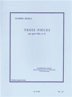 Eugène Bozza: Trois Pièces (4 Flutes) (Score/Parts) Books | Flute (Quartet)
