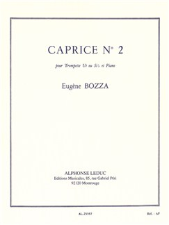 Eugène Bozza: Caprice No. 2 for Trumpet and Piano Books | Trumpet