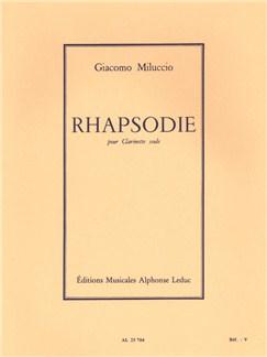 Giacomo Miluccio: Rhapsodie For Solo Clarinet Books | Clarinet