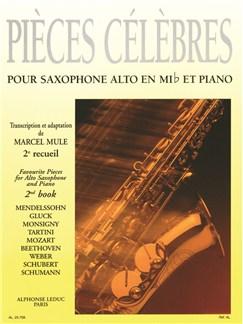 Pièces Célèbres Vol.2 (Alto Saxophone/Piano) (Mule) Books | Alto Saxophone, Piano Accompaniment