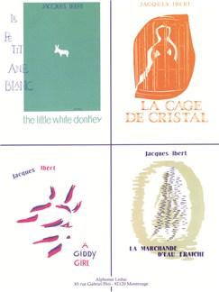 Jacques Ibert: Le Petit Âne Blanc/A Giddy Girl/La Cage De Cristal/La Marchande D'eau Fraîche (Piano) Books | Piano Accompaniment