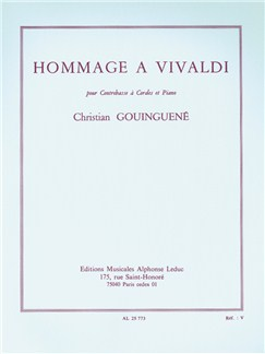 Christian Gouinguené: Hommage A Vivaldi (Double Bass/Piano) Books | Double Bass, Piano Accompaniment
