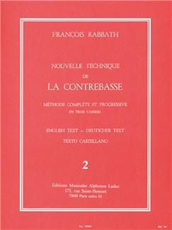 François Rabbath - Nouvelle Technique De La Contrebasse , Vol. 2 Libro | Contrabajo, Guía de estudio