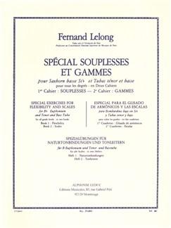 Fernand Lelong: Spécial Souplesses Et Gammes Vol.2 (B Flat Euphonium/Tenor/Bass Tuba) Libro | Tuba, Bombardino