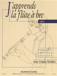 Jean-Claude Veilhan: J'Apprends La Flute À Bec Alto Buch | Altblockflöte