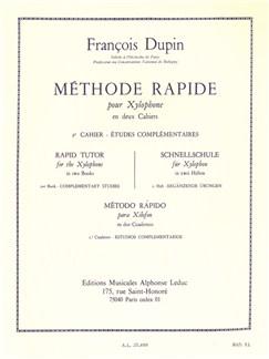 François Dupin: Méthode Rapide Pour Xylophone Vol.2 Books | Percussion, Xylophone