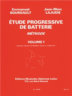 Boursault: étude progressive de batterie volume 1 Livre | Percussion