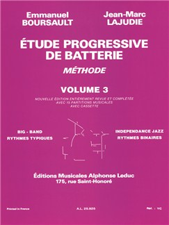 Emmanuel Boursault/Jean-Marc Lajudie: Étude Progressive De Batterie Vol.3 Books | Percussion