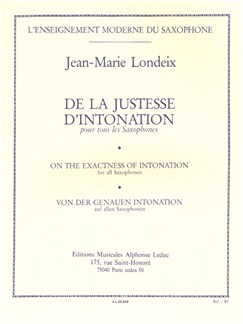 Jean-Marie Londeix: De La Justesse D'Intonation Buch | Saxophon