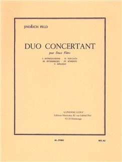 Jindřich Feld: Duo Concertant For Two Flutes Libro | Flauta(Dueto)
