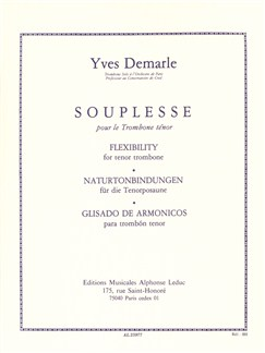 Yves Demarle: Souplesse/Flexibility For The Trombone Libro | Tombón