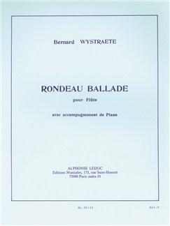 Bernard Wystraëte: Rondeau Ballade (Flute/Piano) Books | Flute, Piano Accompaniment