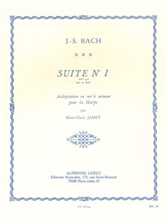 J.S.Bach Suite No.1 BWV996 (Harp) (Jamet) Books | Harp