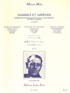 Marcel Mule: Gammes Et Des Arpèges Vol.3 (Saxophone) Buch | Saxophon
