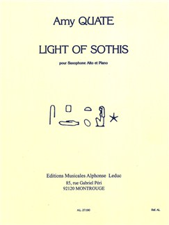 Amy Quate: Light Of Sothis For Alto Saxophone And Piano Books | Alto Saxophone, Piano Accompaniment