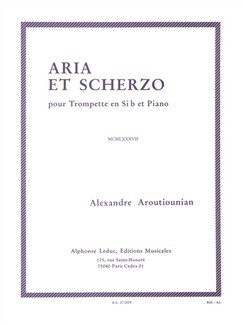 Alexandre Aroutiounian: Aria Et Scherzo (Trumpet/Piano) Books | Trumpet, Piano Accompaniment