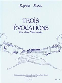 Eugène Bozza: Three Evocations For Two Flutes Books |