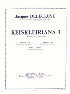 Jacques Delécluse - Kreisleriana, 13 Études pour caisse-claire (1<sup>er</sup> cahier) Livre | Percussion