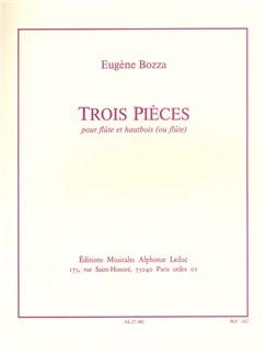Eugène Bozza: 3 Pièces (Flute/Oboe) Books | Flute, Oboe