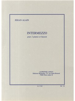 Jehan Ariste Alain: Intermezzo Books | Bassoon, Two Pianos